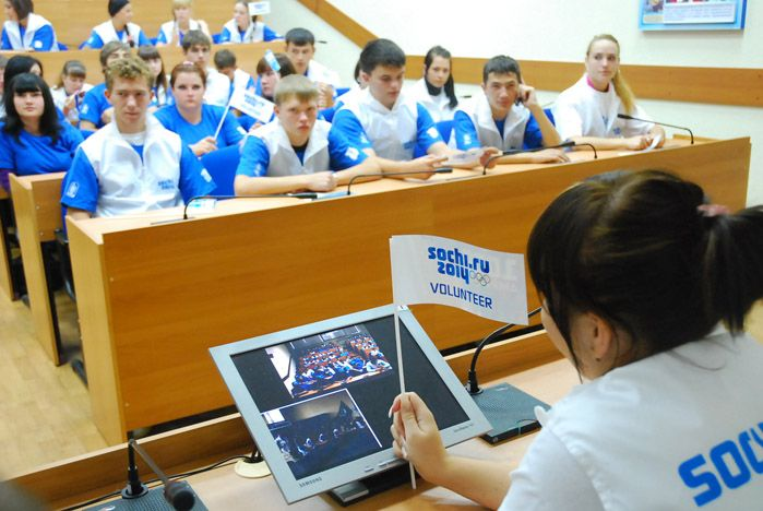 Волонтерский центр ВГУЭС приветствовал членов Координационной комиссии Международного олимпийского комитета и «Оргкомитета «Сочи 2014»