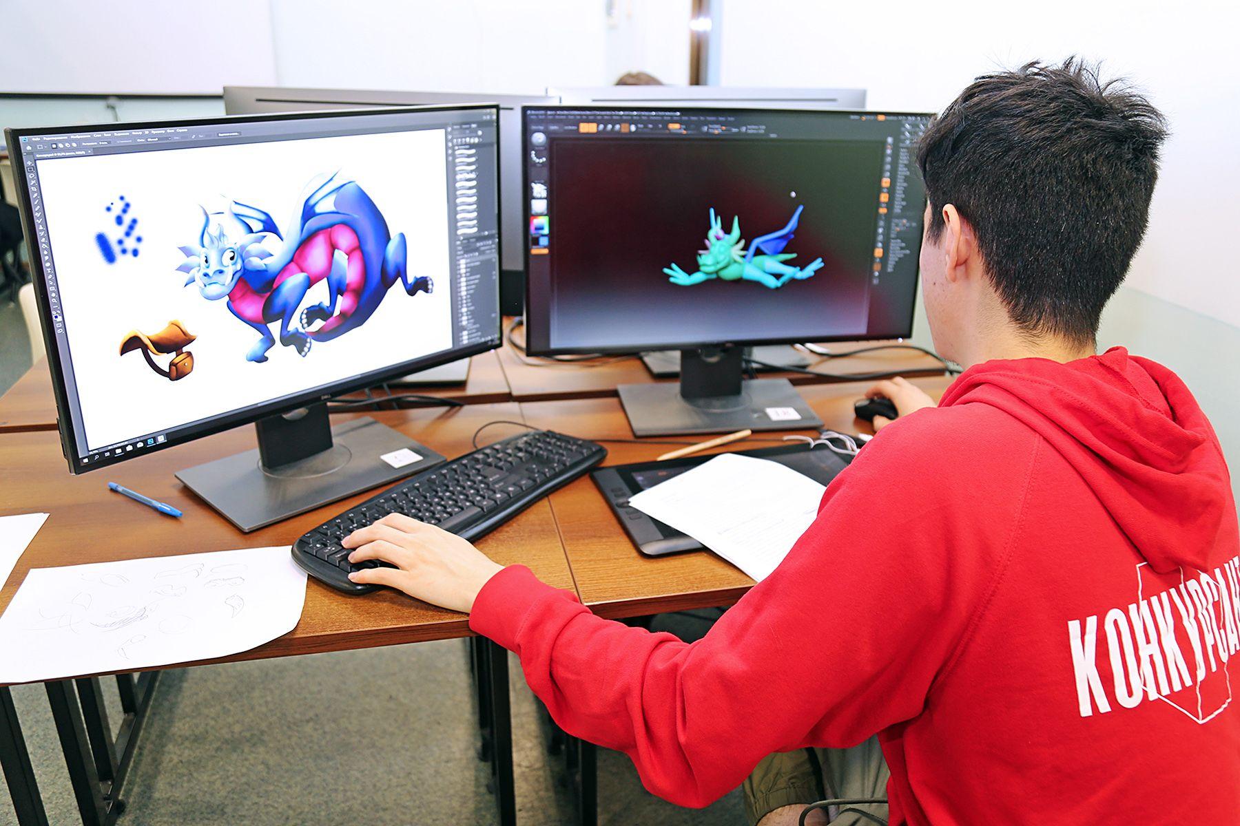 Создатели драконов: компетенция «3D моделирование для компьютерных игр» чемпионата «Молодые профессионалы» во ВГУЭС