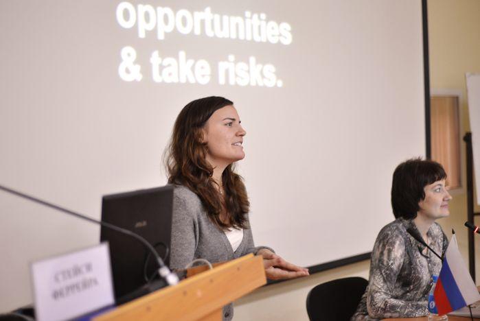 Стейси Феррейра во ВГУЭС: «Как получить миллион долларов на стартап, если тебе всего 18 лет?»