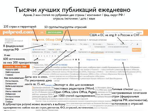 Открыт доступ к ЭБС Polpred.com. Обзор СМИ